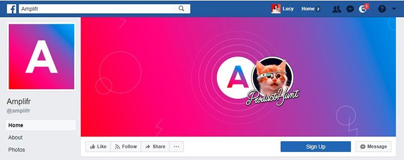portada pagina de fans facebook gato